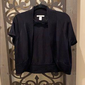 Black knit bolero jacket